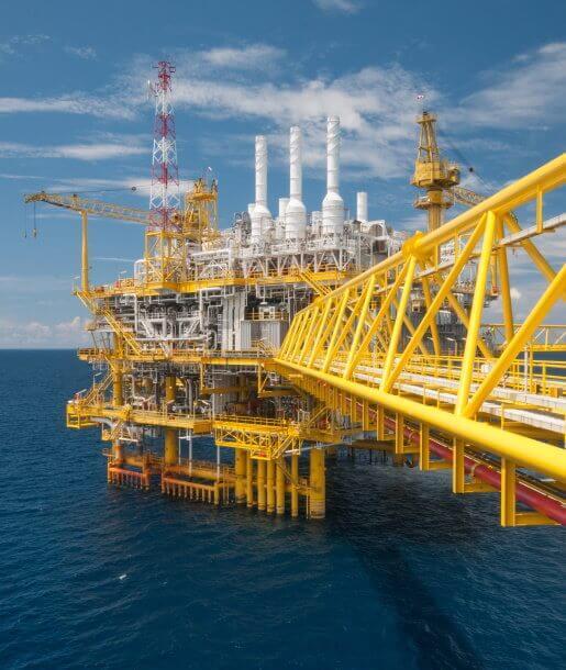 Oil and gas platform or Construction platform